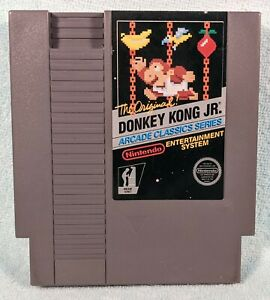 Donkey Kong Jr. (Nintendo NES, 1986) Authentic 5-Screw - Tested & Working!