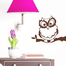 10333 wandtattoo-loft Adesivo per parete GUFO Pauli OWL UHU Marrone 10x13cm