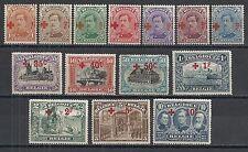 Belgium 1918 OBP 150-163  MNH/MLH  RED CROSS  VF