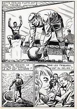 FINALE DE COUPE FOOTBALL (ROBERT HUGUES) PLANCHE ORIGINALE PILAR SANTOS PAGE 41