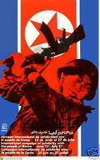 Political OSPAAAL POSTER.North KOREA Soldier.War.Asia 38.Revolution Art Design