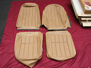 73-75 CORVETTE NOS GM TAN  SEAT COVERS MEDIUM SADDLE