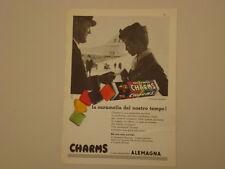 advertising Pubblicità 1961 CARAMELLE CHARMS ALEMAGNA