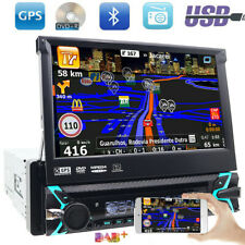 "7"" DAB+1 DIN Staccabile Autoradio DVB-T DVD SD USB GPS Navigatore Bluetooth Map"