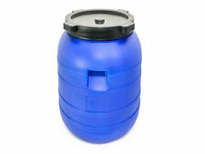 Plastic Barrel 200l With Lid HDPE Water Storage Container Drum Keg Food Grade
