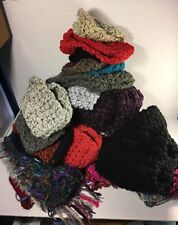 Mixed Lot Of 28 Handmade Infinite Scarfs, Cowls Knitted Yarn Women Fashion Style