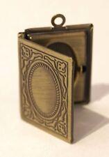 VINTAGE Bronzo Tono in miniatura Medaglione Collana Ciondolo Cornice foto - 21x19mm