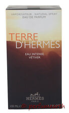 Terre D'hermes Eau Intense Vetiver For Men Edp 3.4/3.3 OZ100 ML Spray New In Box