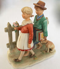 "Huge 1St Edition Norman Rockwell Fall Figurine ""A Scholarly Pace"" 8.5x8x4.3"" 3lb"