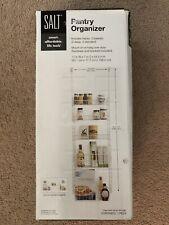 New SALT Over-The-Door 5-Shelf Pantry Organizer White Coated Metal