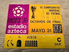 Ticket Mexico - Soviet Union World Cup 1970 Mexico