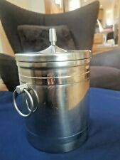 Mid century retro Viners Insulated Stainless Steel Ice Bucket  Cocktail Bar