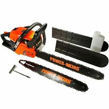 "Power King 16"" & 20"" Inch 45cc Gas Powered Chainsaw Combo PK451620"