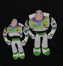 Lot 2 peluche doudou buzz l'éclair Toy Story DISNEY PIXAR NICOTOY 25 & 30cm TTBE