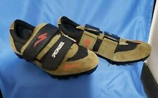 Specialized Sport Men's Mountain Bike Shoes Suede Olive Green Cycling-Size 8.5