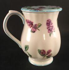 "Lovely Royal Doulton Porcelain Peppermint Mug & Coaster / Lid 4.5"" Tall"
