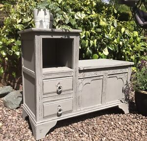 Shabby Chic Hall Table In Annie Sloan French Linen
