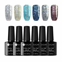 6 Bottles/lot UR SUGAR Holographisch Gellack Soak Off UV Gel Nagellack Nail Art