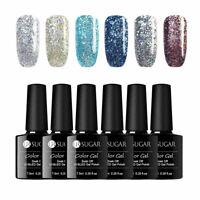 6 Bottles/lot UR SUGAR Holographisch Gellack Soak Off UV Gel Nagellack Nail Art