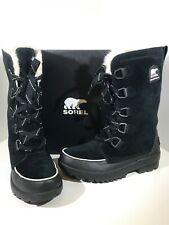 Sorel Tivoli IV Tall Women's Size 11 Black Suede Insulated Winter Boots X1-110