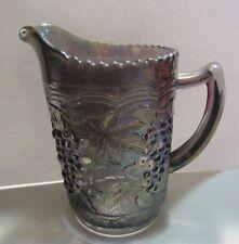 Vintage Imperial Carnival Glass Pitcher Grape Design - original sticker