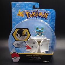 "2"" Poke ball toy Bounce Pokeball with Pokemon figure toys Froakie #656"