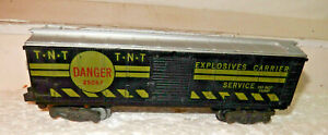 American Flyer Rare 25057 TNT  Exploding Box Car 1960 Only  Very Nice Original