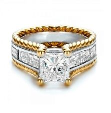Wedding Engagment ring Size 6 Woman's Princess cut 2.0 Cz
