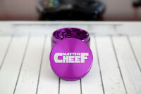 "4 Piece Metal Herb Tobacco Grinder Shredder 2.5"" Purple Aluminum Master Cheef"