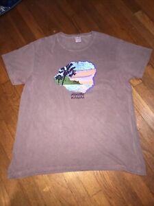 Crazy Shirts Hawaii Hanalei Kauai Purple Wine Dyed Shirt XXL