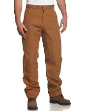 NWT CARHARTT Men's Brown Double Front Cotton Duck Utility Work Pants ~ 48x31