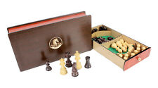 "Rosewood Galaxy Staunton Wooden Chess Set Pieces King size 3"" + Storage Box"