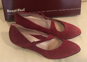 BeautiFeel Women's Lilou Merlot Suede - Size 38