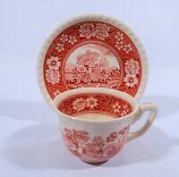 Villeroy & Boch Mettlach Rusticana rot Kaffeetasse mit UT Keramik Country Style