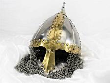 Polished Steel Russian Boyar Battle Helmet - Hand-Forged - sca/helm/viking/armor