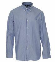 Polo Ralph Lauren Men's Classic Fit Striped Cotton Button Front Shirt Blue