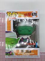 Funko Pop Piccolo NYCC 2019 Dragon Ball Z #670 Shared Sticker MINOR WEAR J05