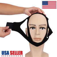 Snore Stop Belt Anti Snoring Cpap Chin Strap Sleep Apnea Jaw Solution Tmj Black#