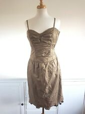 WHISTLES stunning olive colour draped strappy dress size 10 UK NEW RRP 240 £