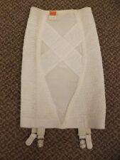 "Feminine Vtg 1950s NEW Rubber X Stitched Panel Girdle w/ Garters S 25/26"" Waist"