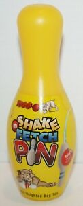 """TUGGO Shake & Fetch Small Dog Toy Water Weighted Bowling Pin Durable Plastic 6"""""""