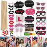 30 pcs Photo Booth Props Frame Wedding Hen party Birthday Baby Shower Selfie