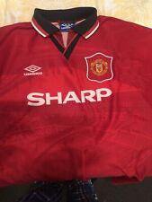 Genuine Signed Mark Hughes Manchester United Home Shirt XXL Umbro 1994/96 #10
