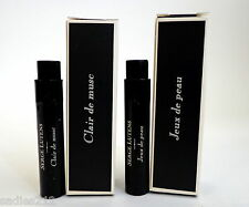 LOT OF 2 SERGE LUTENS SAMPLES CLAIR de MUSC & JEUX de PEAU Parfum 1ml Minis