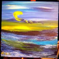 SEASCAPE BY MILA PAINTING  Abstract Modern CANVAS Original Oil  VYOUY7T