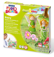 New FIMO Kids Form & Play Set Fairy Modelling Jewellery Craft Art Fun