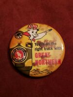 Vintage Antique Great Northern Railway Pinback Button Pin Railroad GNR Goat LPIU