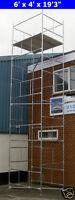 "DIY Scaffold Tower 7.7m (6' x 4' x 25'3"" WH) Galvanised Steel"