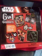 Disney Star Wars 6 in 1 Games Dice Dominoes Matching Bingo Galactic Spin NIB