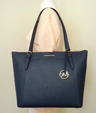 bd1dda8f5da38f Michael Kors Ciara Large East West Top Zip Tote Saffiano Leather in Navy